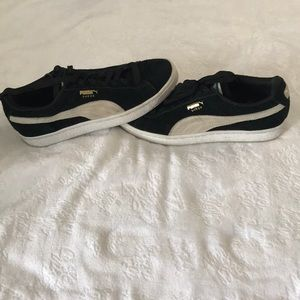 Black and White suede sneakers